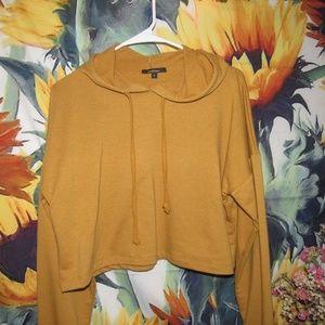 Yellow Dropped Shoulder Sweatshirt